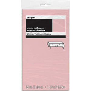 Pastel Pink Plastic Rectangle Tablecover