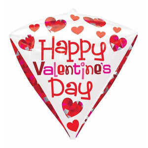 Happy Valentines Day Diamondz Balloon - mypartymonsterstore