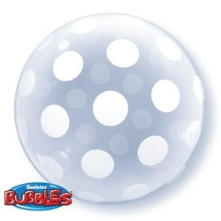 Polka Dots Deco Bubble Balloon - mypartymonsterstore