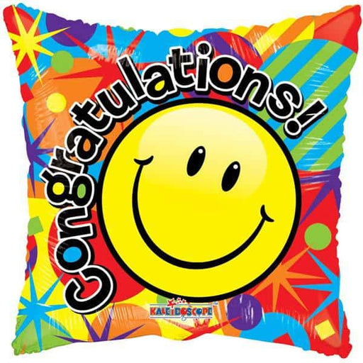 Smiley Congratulations Foil Balloon