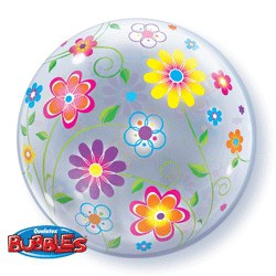 Spring Floral Pattern Bubble Balloon