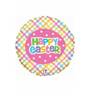 Spring Time Easter Plaid Balloons - mypartymonsterstore