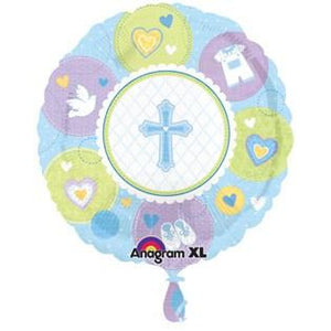 Sweet Christening Boy Foil Balloon - mypartymonsterstore