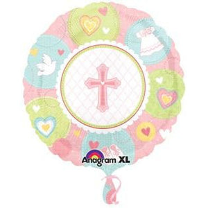 Sweet Christening Girl Foil Balloon - mypartymonsterstore