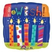 Make A Wish Candles Foil Balloon - mypartymonsterstore