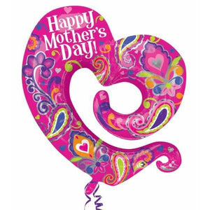 Happy Mothers Day Open Heart Supershape - mypartymonsterstore