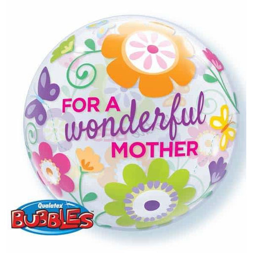 Wonderful Mum Spring Garden Single Bubble Balloon