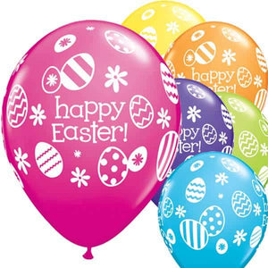Easter Eggs And Daisies Latex Balloons 25ct - mypartymonsterstore