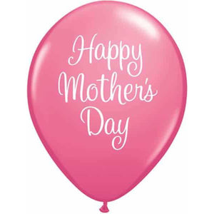 Mothers Day Script Latex Balloons 25ct - mypartymonsterstore
