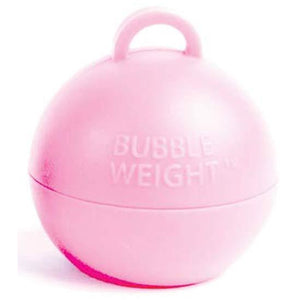 Light Pink Bubble Balloon Weights 1pk - mypartymonsterstore