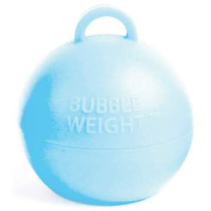 Light Blue Bubble Balloon Weights 1pk