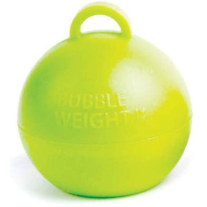 Lime Green Bubble Balloon Weights 1pk - mypartymonsterstore