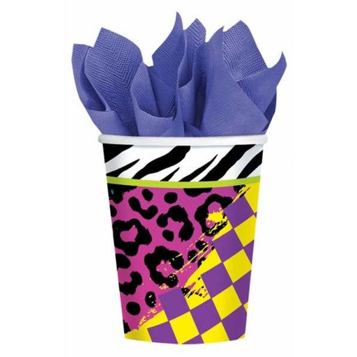 Totally 80s Paper Cups 8pk