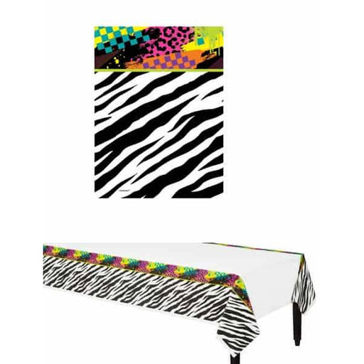 Totally 80s Plastic Tablecover 1pk