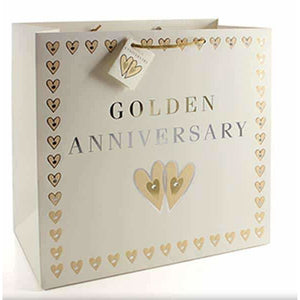 Golden Anniversary Large Gift Bags - mypartymonsterstore