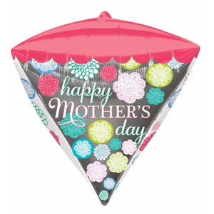 Mothers Day Floral Pattern Diamondz Balloon - mypartymonsterstore