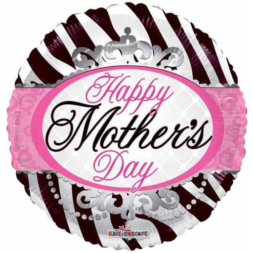 Happy Mothers Day Zebra Print Foil Balloon