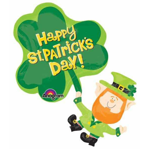 Leprechaun And Shamrock St Patricks Supershape Balloon