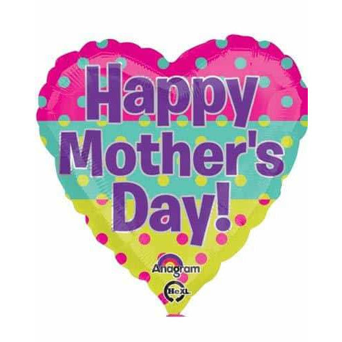 Happy Mothers Day Dots Foil Balloon