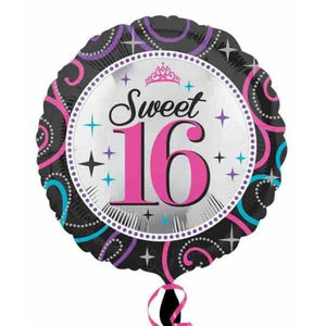 Sweet 16 Pink Sparkle Foil Balloon - mypartymonsterstore