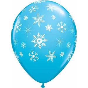 Snowflakes And Sparkles Robins Egg Blue Latex 25pk