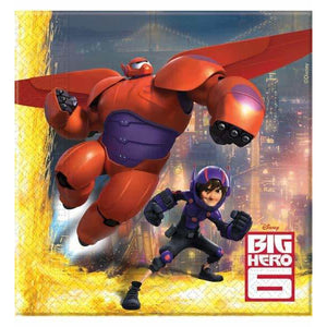 Disney Big Hero 6 Lunch Napkins 20pk