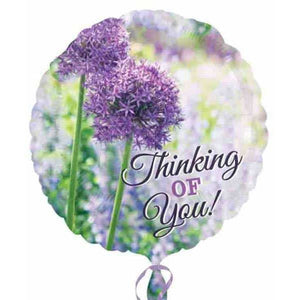 Thinking Of You Allium Foil Balloon - mypartymonsterstore
