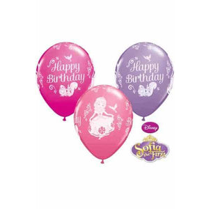 Sofia Birthday Balloons 25pk - mypartymonsterstore