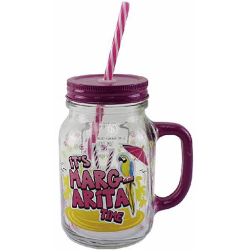 Margarita Jam Jar Drinking Glass