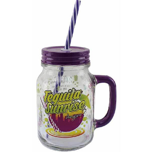 Tequila Jam Jar Drinking Glass
