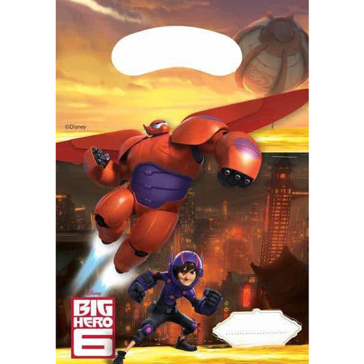 Disney Big Hero 6 Party Loot Bags 6pk