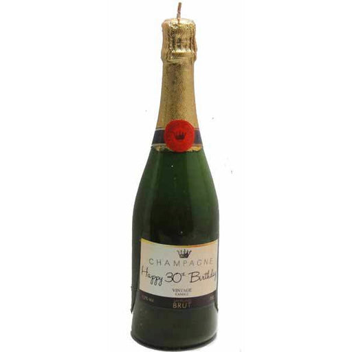Happy 30th Birthday Champagne Bottle Candle