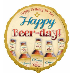 Happy Beer Day Foil Balloon - mypartymonsterstore
