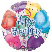 Happy Birthday Balloons Foil Balloon - mypartymonsterstore