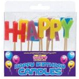 Happy Birthday Multi Colour Candle Set