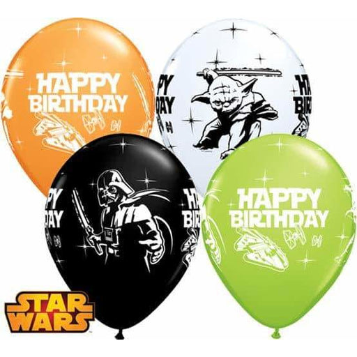Star Wars Happy Birthday Latex Balloons 25pk