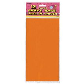 Orange Paper Party Bag x 12