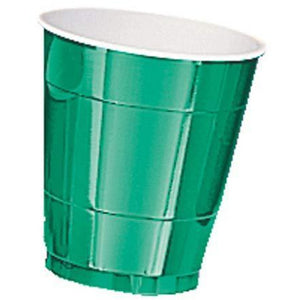 Festive Green Paper Cups 8pk - mypartymonsterstore