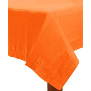 Orange Peel Paper Tablecover 1pk - mypartymonsterstore