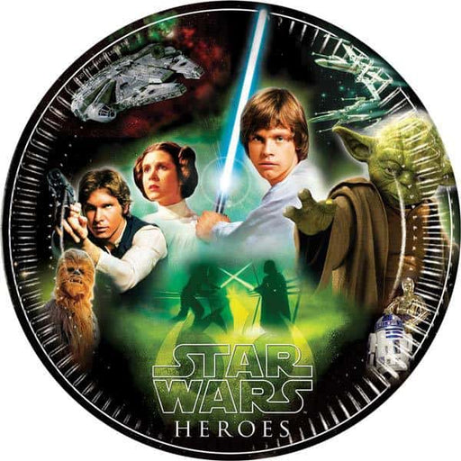 Star Wars Hero Paper Plates x8