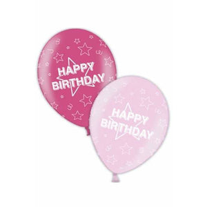 Pink Happy Birthday Latex Balloons x25