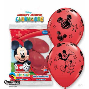 Mickey Latex Balloons 6pk