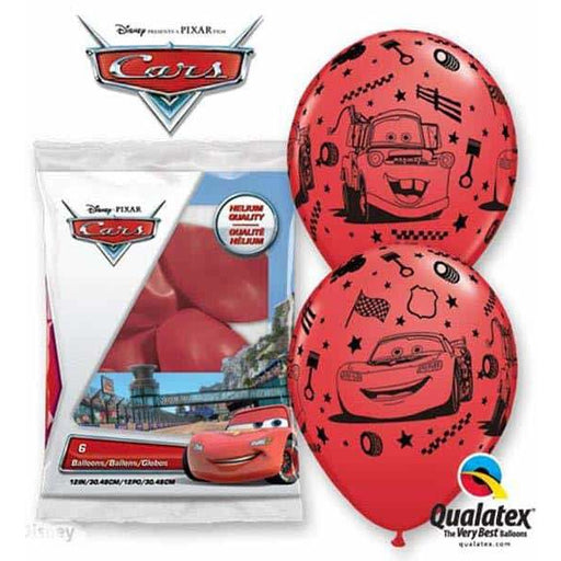Lightning McQueen And Mater Latex Balloons 6pk
