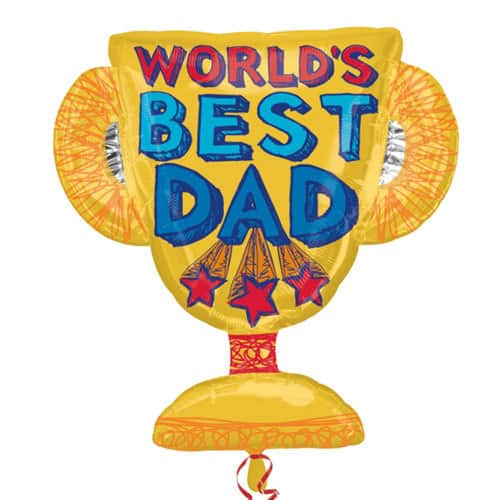 Worlds Best Dad Trophy Supershape Balloon