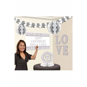 Silver Party Decoration Kits - mypartymonsterstore