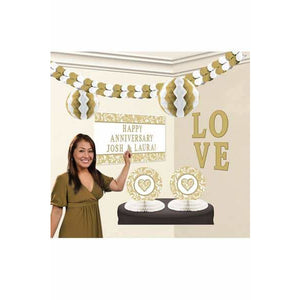 Gold Party Decoration Kits - mypartymonsterstore