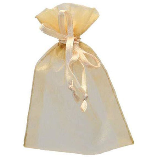 Gold Organza Favour Bags x10