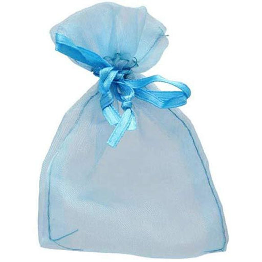 Turquoise Organza Favour Bags x10