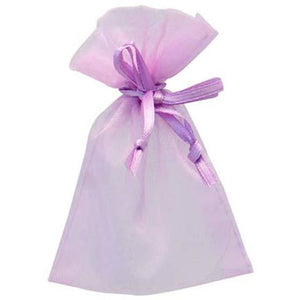 Lilac Organza Favour Bags x10