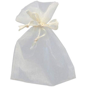 Ivory Organza Favour Bags x10